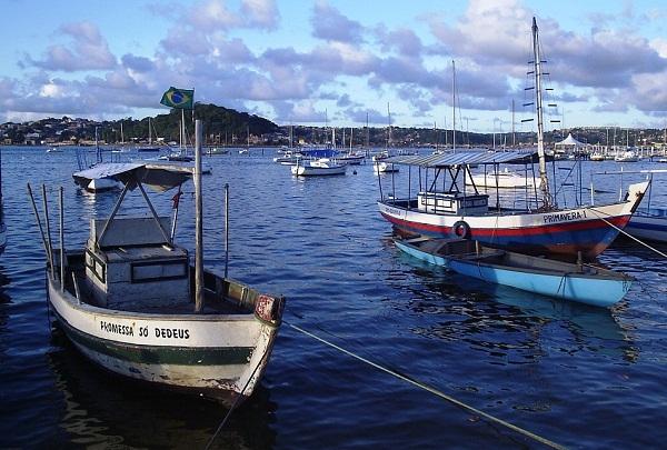 Fim de tarde na Ribeira, Salvador, Bahia. Imagem: Janaína Calaça.