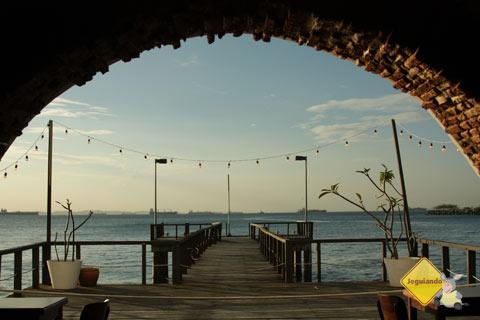 Vista do café/bistrô do Solar do Unhão. Salvador, Bahia. Imagem: Janaína Calaça