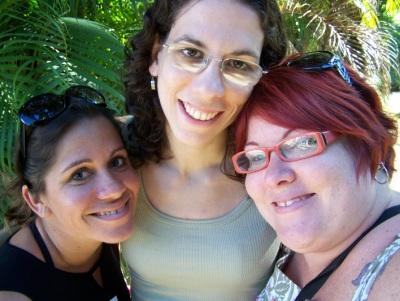 Andréia, Mila e eu no Jardim Botânico. Imagem: Jeguiando.
