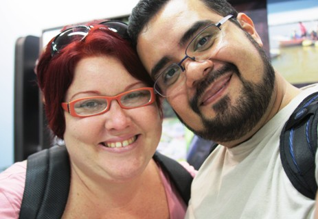 Janaína Calaça e Erik Pzado em Foz do Iguaçu à convite do Hotel Tarobá Express.