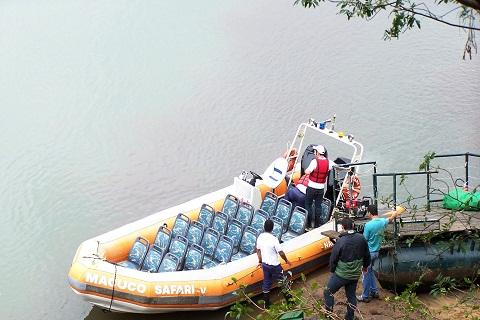 Barco do Macuco Safari. Parque Nacional do Iguaçu. Imagem: Erik Pzado.