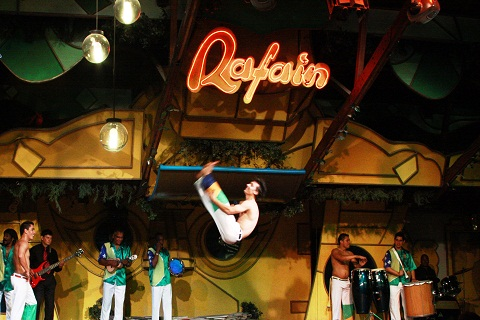 Capoeira. Restaurante Rafain. Foz do Iguaçu. Imagem: Erik Pzado.