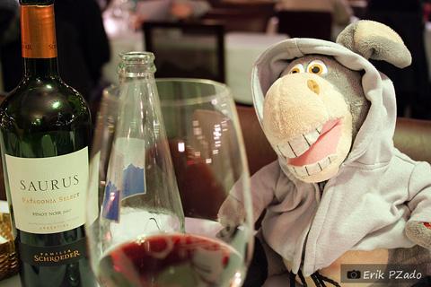 Jegueton, el Borracho, e o Saurus, boa opção de vinho Patagônico. Imagem: Erik Pzado.