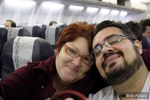 Janaína Calaça e Erik Pzado, Jeguiando a caminho de Bariloche, Argentina. Imagem: Erik Pzado.