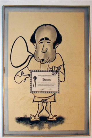 Caricatura do Baiano das Astúrias. Imagem: Erik Pzado.