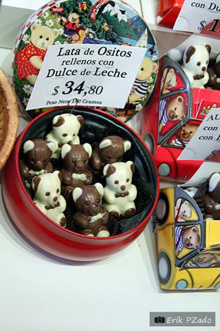 Lembrancinhas de viagem: chocolates. Não sobrará urso sobre urso! Imagem: Erik Pzado.