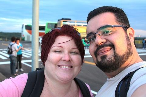 Janaína Calaça e Erik Pzado, Jeguiando sempre por aí. Imagem: Erik Pzado.