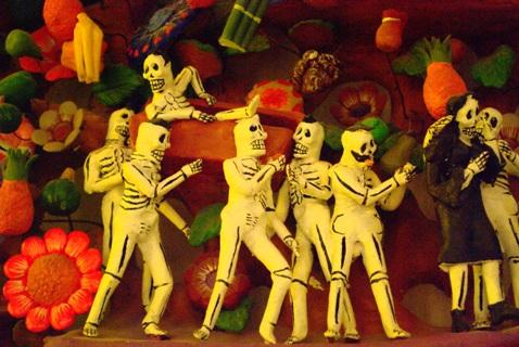 Caveirinhas do Dia dos Mortos. México. Imagem: Fábio Brito.