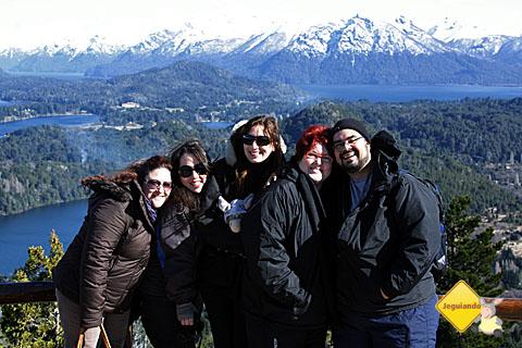 Andrea, Mari Campos, Rubita e Jegueton, Janaína Calaça e Erik Pzado no alto do Cerro Campanário.