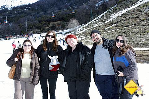 Andrea, da Royal Holiday, Rubita, da Burson Marsteller, Jegueton, eu, Erik Pzado e Mari Campos. #Picolédeblogueiros.