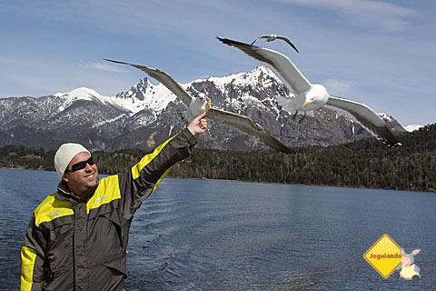 Marcio, do A Janela Laranja, obviamente subornou as gaivotas com alfajores. Tá na cara! Imagem: Erik Pzado.