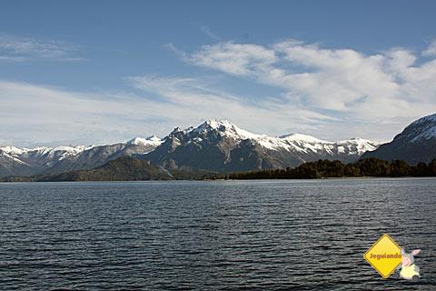 Vista do Catamarã. Cordilheira dos Andes. Imagem: Erik Pzado.