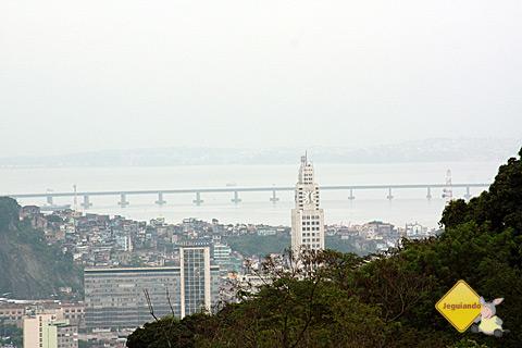 Vista da Ponte Rio-Niterói de Santa Tereza. Imagem: Erik Pzado.