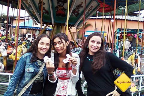 Natalina, Poliana e Anita em um dia no CTN. Imagem: Janaína Calaça.