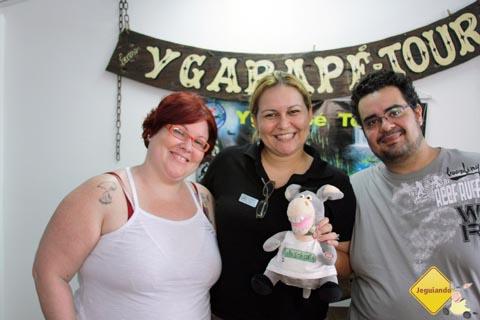 Janaína Calaça, Jack e Erik Pzado na Ygarapé Tour.