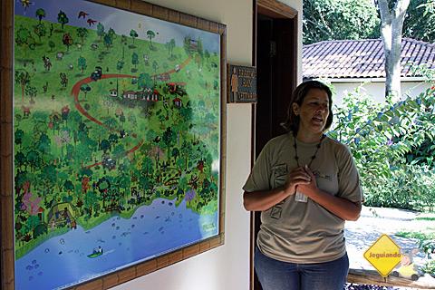 Guia Chris dá as instruções para flutuação no Rio da Prata. Bonito, Mato Grosso do Sul. Imagem: Erik Pzado.