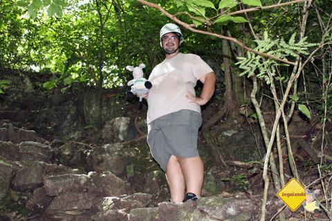 Erik derretendo na subida e Jegueton. Imagem: Cris