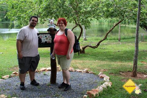 Erik Pzado, Jegueton e Janaína Calaça  na Estância Mimosa, Bonito, Mato Grosso do Sul.