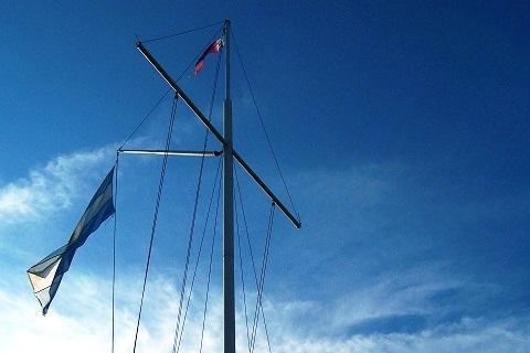 Bandeira argentina. Club Nautico Rosario. Imagem: Fábio Brito (Arquivo Jeguiando)