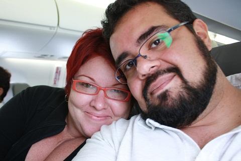 Eu e Erik em nossa primeira viagem juntos para Salvador. Imagem: Erik Pzado