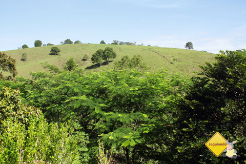 Vista dos chalés, da Fazenda Serra do Vale. Imagem: Janaína Calaça.