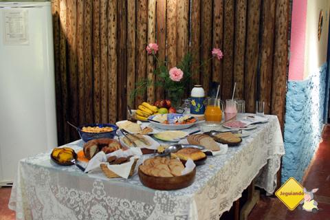 Café da manhã preparados com ingredientes produzidos na própria fazenda. Imagem: Janaína Calaça.