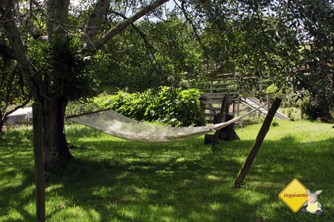 Rede para descansar. Fazenda Serra do Vale, São Luiz do Paraitinga, SP. Imagem: Erik Pzado.