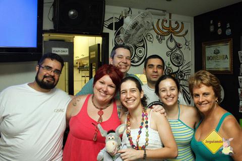 Erik Pzado, Janaína Calaça e os responsáveis pelo blog Quatro Cantos do Mundo.