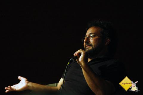 João Corrêa Filho no lançamento de seu livro Lisboa em Pessoa, em São Paulo. Imagem: Erik Pzado.