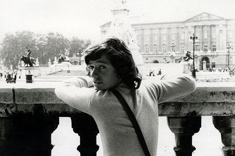 Luis Filipe Gaspar, em sua primeira viagem, aos dezesseis anos. Buckingham Palace. Londres, Reino Unido.