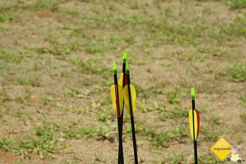 Flechas. Arco e Flecha no Broa Golf Resort, Itirapina, SP. Imagem: Erik Pzado.