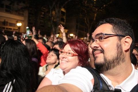 Jana Calaça e Erik Pzado na Virada Cultural de 2010. Imagem: Erik Pzado.