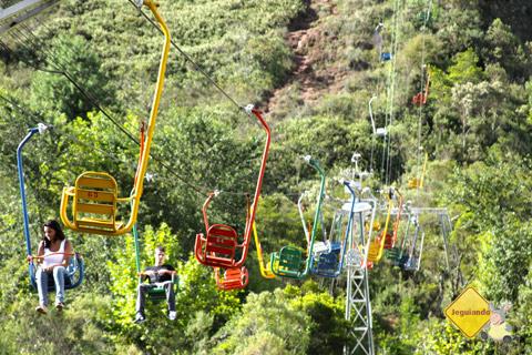Teleférico que leva os visitantes ao Morro do Elefante. Imagem: Erik Pzado