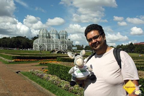 Jegueton e Erik no Jardim Botânico. Imagem: Janaína Calaça