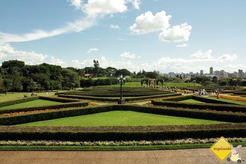 Jardim em estilo francês. Jardim Botânico, Curitiba, PR. Imagem: Erik Pzado