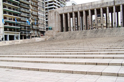 Netuno representando o Oceano Atlântico. Monumento à Bandeira, Rosário, Argentina. Imagem: Fábio Brito (Arquivo Jeguiando)