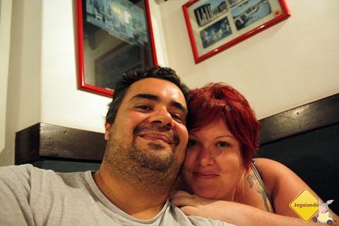 Erik Pzado e Jana Calaça. Jantar no Spaghetto. Imagem: Erik Pzado