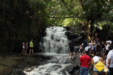 Cachoeira. Santa Clara Eco Resort, Dourado, SP. Imagem: Erik Pzado.
