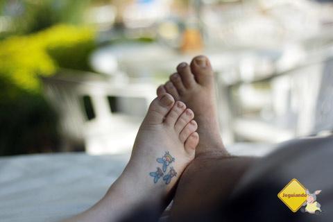 Pés gordins ou a gente caminha junto sempre. Santa Clara Eco Resort, Dourado, SP. Imagem: Erik Pzado.