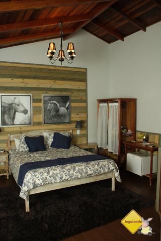 Nosso chalé. Santa Clara Eco Resort, Dourado, SP. Imagem: Erik Pzado