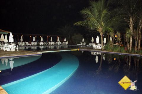 Piscina climatizada. Santa Clara Eco Resort, Dourado, SP. Imagem: Erik Pzado
