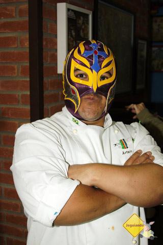Arturo Herrera, chef do La Buena Onda. Lucha Libre! Imagem: Erik Pzado