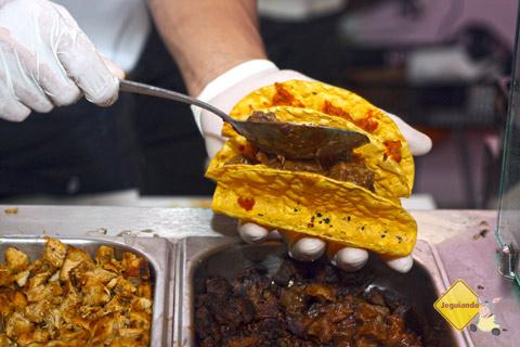Taco. La Buena Onda, Tatuapé, São Paulo. Imagem: Erik Pzado