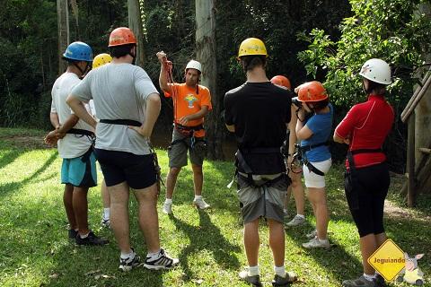 Instruções para o cascading na Cachoeira do Saltão. Imagem: Erik Pzado