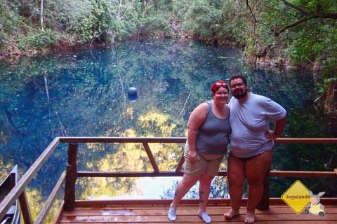 Janaína Calaça e Erik Pzado na Lagoa Misteriosa. Jardim, MS. Imagem: André Turatti