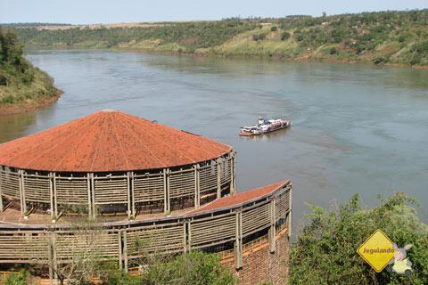 Vista do Marco das 3 fronteiras. Foz do Iguaçu, PR. Imagem: Janaína Calaça
