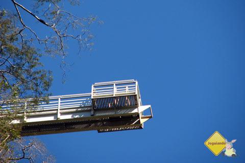 Plataforma de 90 m de altura, onde acontece o Rapel na Boca da Onça. Imagem: Erik Pzado