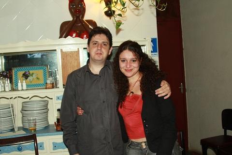 Eduardo Lacerda e Aline Rocha, editores da Patuá. Imagem: Erik Pzado