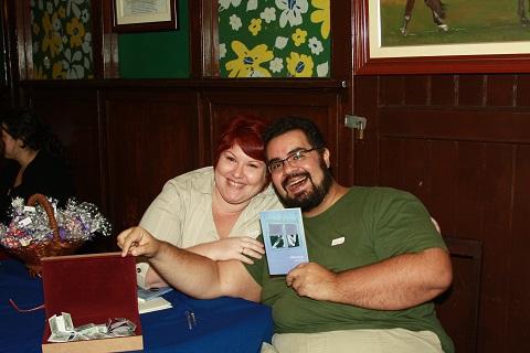 Eu e Erik, meu amor, companheiro de vida e viagens. Eu e mainha. Lançamento do livro de contos Obs(cena)s de Janaína Calaça pela Editora Patuá.