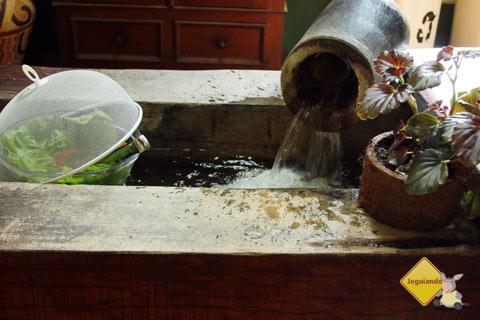 A corrente mantém os recipientes refrescados. Imagem: Erik Pzado